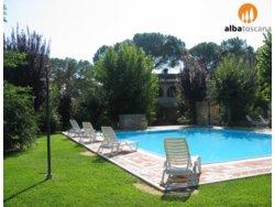 Bild zur kostenlos inserierten Ferienunterkunft Gut gelegenes Ferienhaus mit Pool in der Toskana nahe Siena (521CV).
