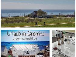 Bild zur kostenlos inserierten Ferienunterkunft 100% Meerblick Grömitz Ostsee 2-Zi-Ferienwohnung,WLAN + Strandkorb.